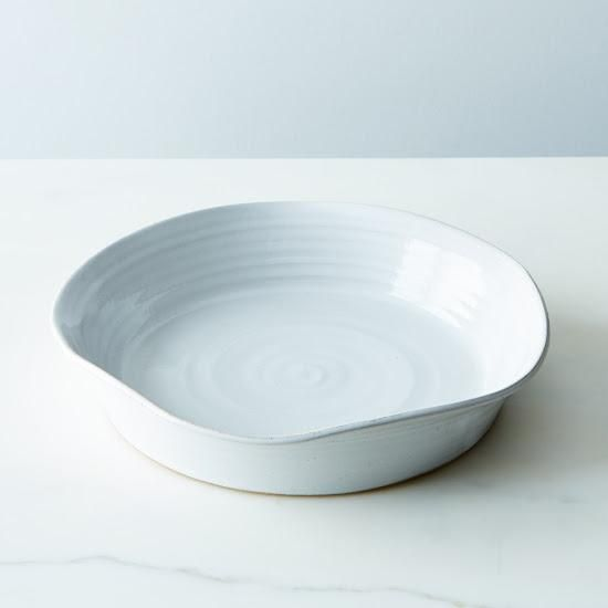 """Stoneware 11"""" Pie Plate: A little deep for more of the good stuff. #food52"""