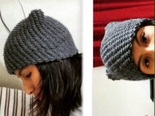 Loomed kitty hat by @d91360