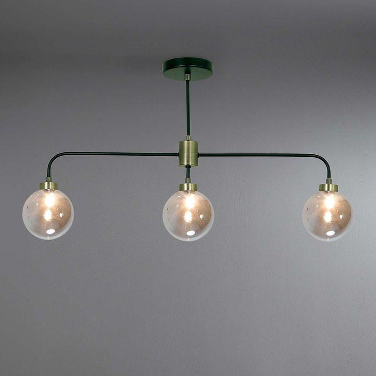 Tanner Black 3-Light Ceiling Fitting   Dunelm