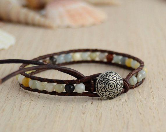 Skinny boho chic amazonite bracelet by SinonaDesign, €21.00