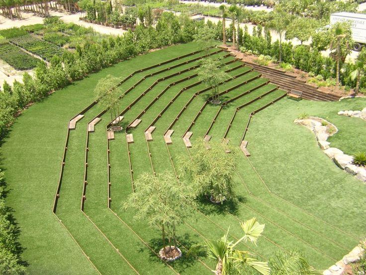 EasyTurf outdoor amphitheater www.easyturf.com artificial grass l outdoor living l backyard design l curb appeal l fake grass