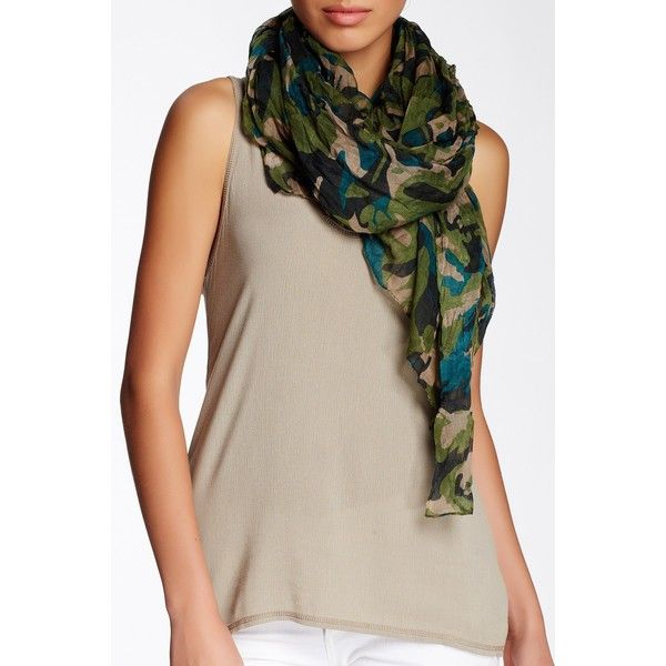 blue pacific brushed cotton camo print scarf 20 liked