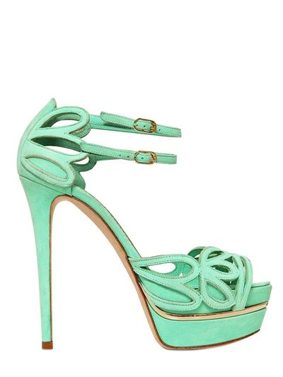 LE SILLA - 130MM SUEDE BUTTERFLY SANDALS - LUISAVIAROMA - LUXURY SHOPPING WORLDWIDE SHIPPING - FLORENCE