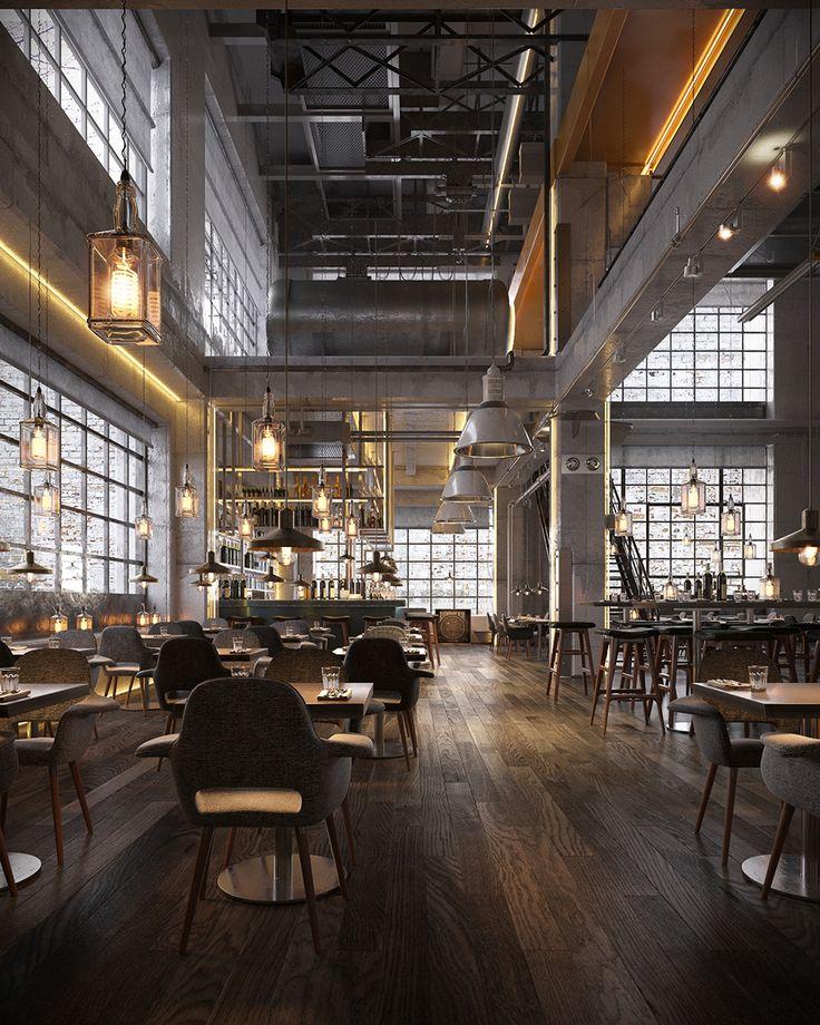 81e80c49369b6e5b6ddf5696260452d4 industrial bars industrial interiors