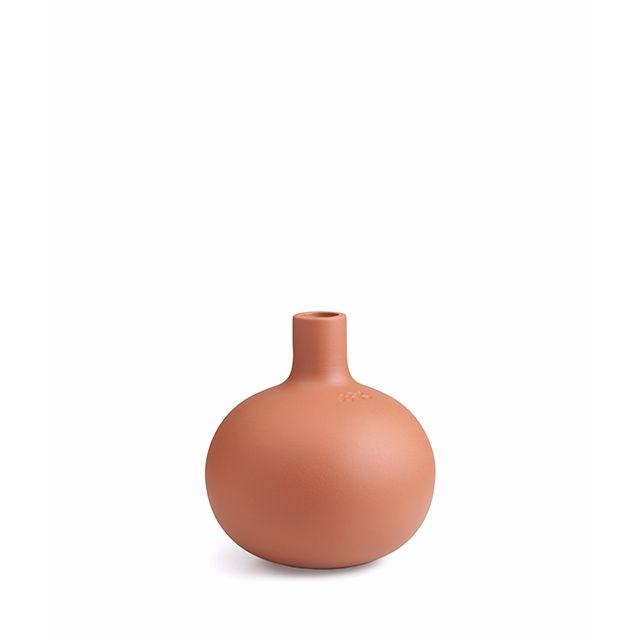 Terracotta candlestick, small