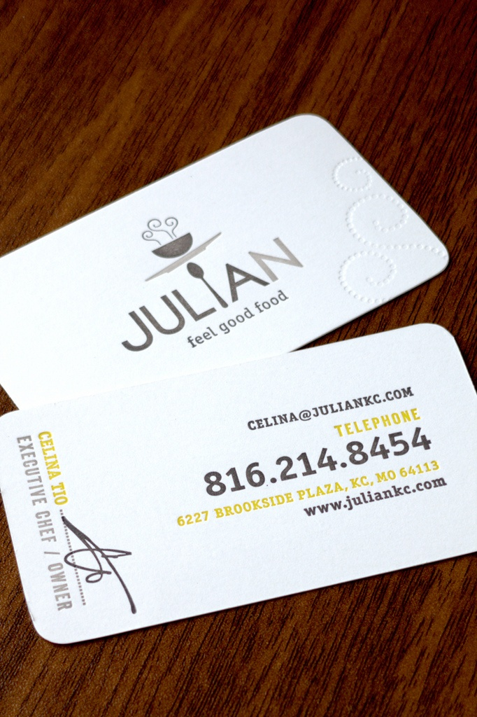 Love the minimalist design. Rounded corners and embossed paper.