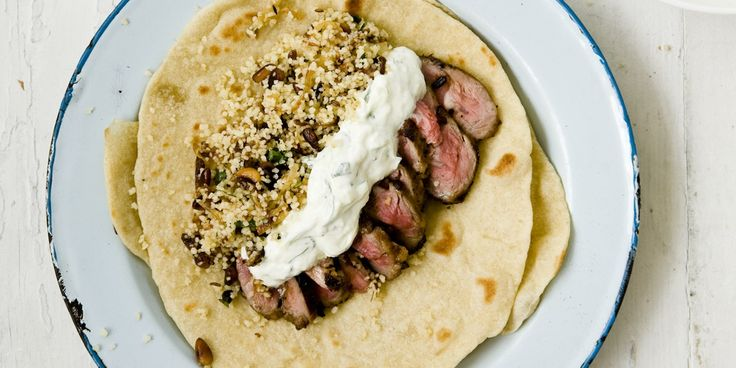 Lamb fillets are encased in warmed flatbreads in this delicious Turkish lamb recipe by Marcus Wareing