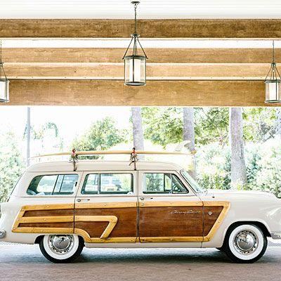 A vintage woody wagon