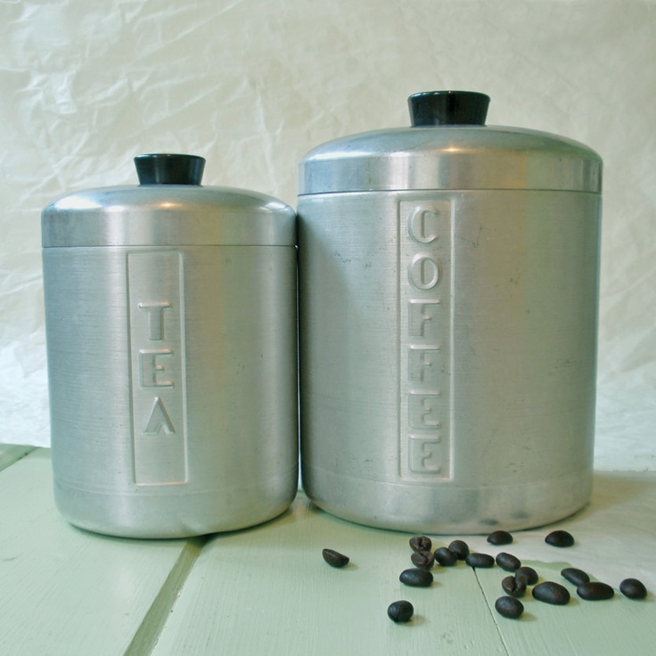 Vintage Kitchen Canisters For Coffee And Tea