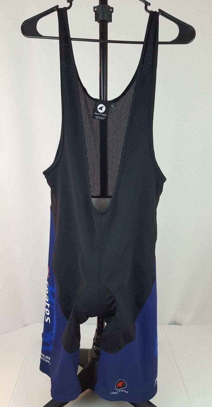 Pactimo Mens Padded Cycling BIB Jersey Shorts Size  XXL