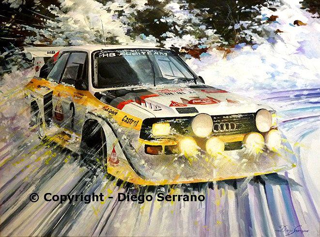 Stig Blomqvist con Audi Sport S1 Gr.B by Diego Serrano