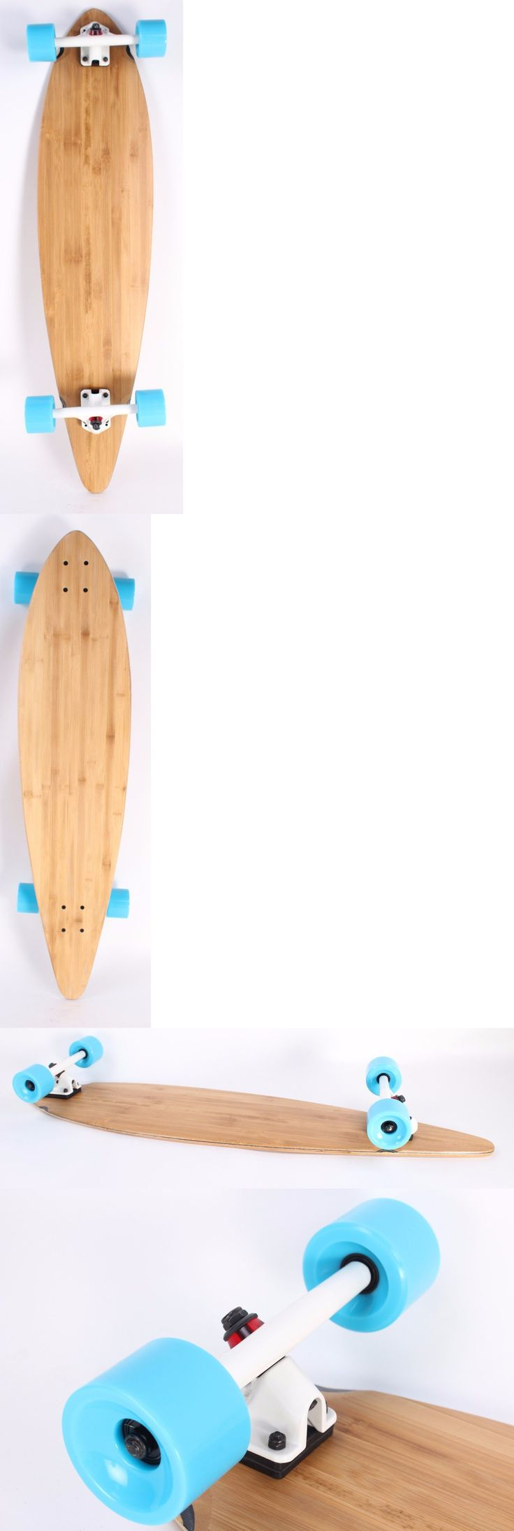 Longboards-Complete 165942: Bamboo 40 Pintail Complete Longboard White Trucks Sky Blue Wheels -> BUY IT NOW ONLY: $59.99 on eBay!