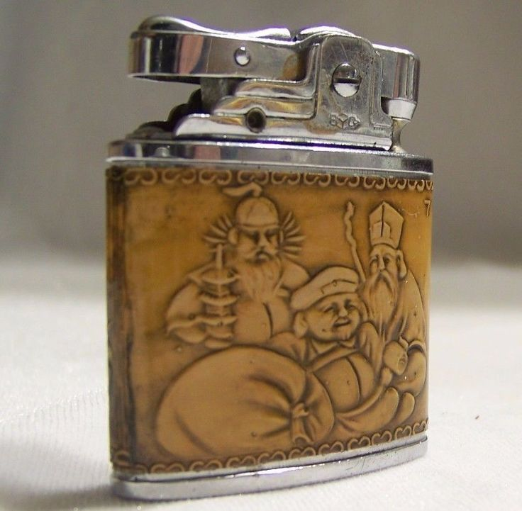 Vintage Prince Lighter 7 God of Lucky Fortune for Parts or Repair #Prince