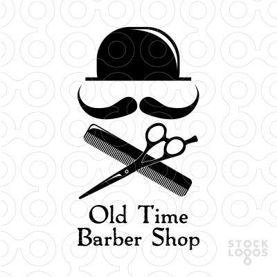 barber shop fonts old time barber shop stocklogoscom