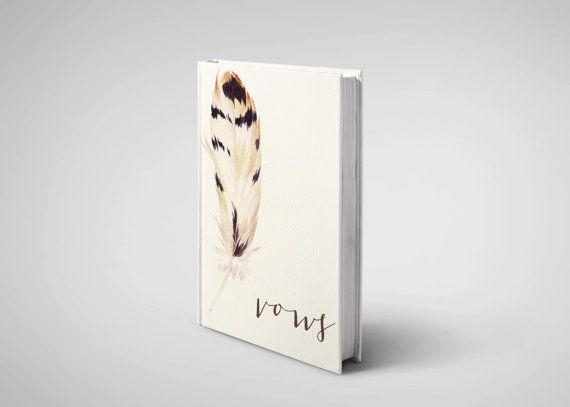 Wedding vow book / vow journal / wedding vow books by ScribbledCo