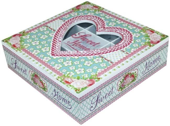Květovaná krabička na čaj
