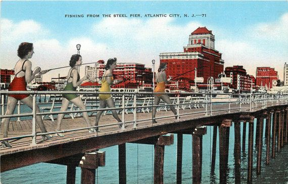 152 best images about linen postcards stuff on pinterest for Atlantic city fishing pier