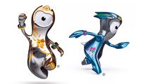 London 2012 mascots - Wenlock and Mandeville  Find out more about Wenlokc and Mandeville at http://www.london2012.com/mascots