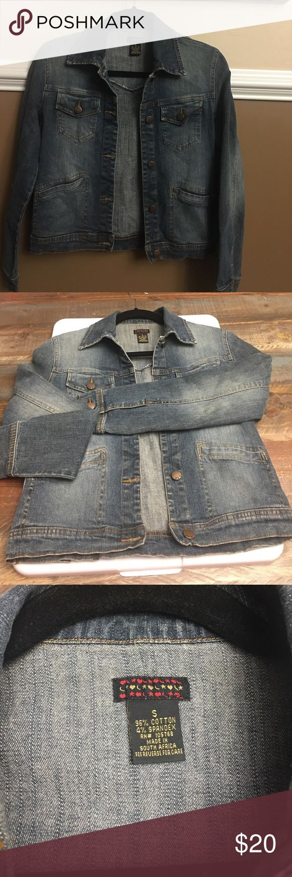 Ladies denim jacket This jacket is in excellent condition.. worn only a few times. Very soft comfy with a washed out look Jackets & Coats Jean Jackets