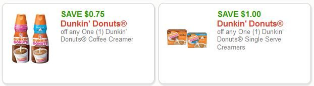 $1.75 Dunkin' Donuts Coupons + Publix Deal