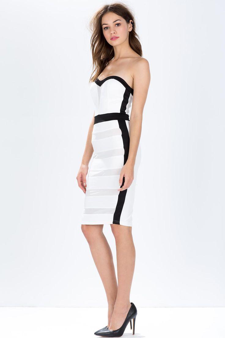 Платье бюстье Размеры: S, M, L Цвет: белый Цена: 2373 руб.  #одежда #женщинам #платья #коопт