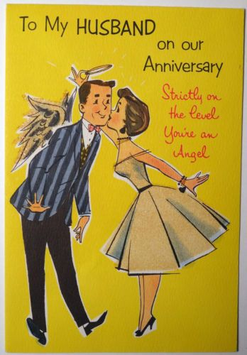 Vtg 1950s  Anniversary Greeting Card,  Couple