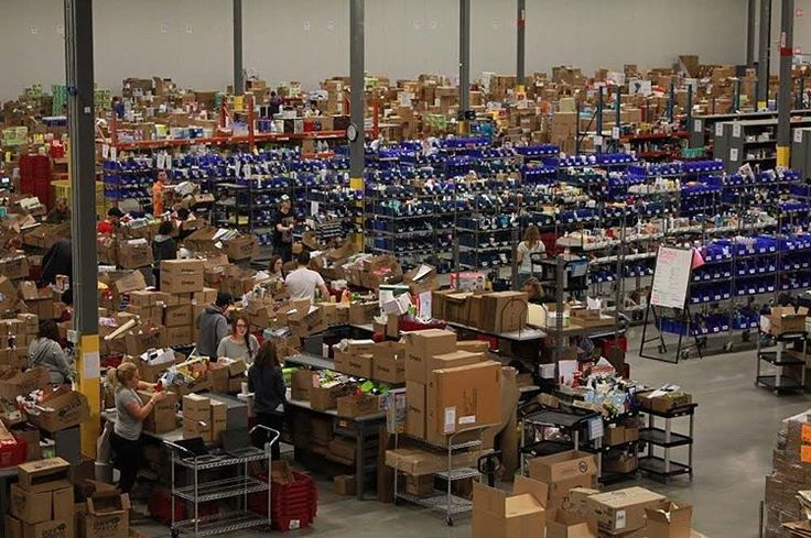 The scene in the warehouse over Cyber Monday!