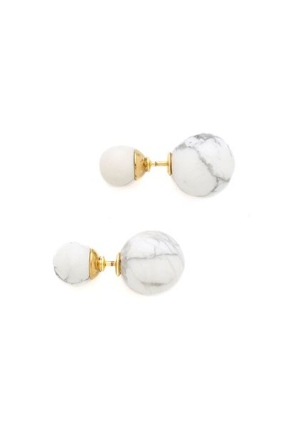 Front to Back Marble Earrings