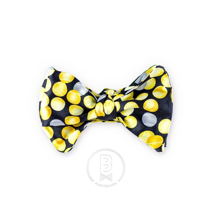 blowties >< yellow silver circles bow-tie