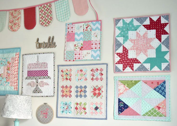 Mini Quilt Gallery Wall