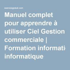 Manuel complet pour apprendre à utiliser Ciel Gestion commerciale   Formation informatique