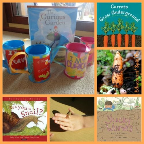 "Get creative with reading this summer -- 7 Fun Garden Activities that are matched to Picture Books - great for the Summer Reading Programs ""Dig into Reading""!"