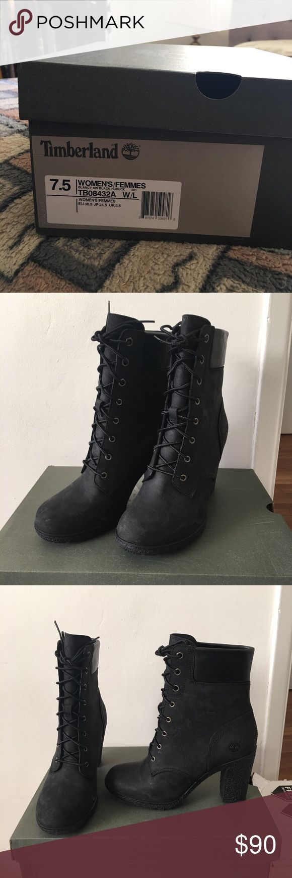 """NEW Timberland Glancy 6"""" Boots Black Women 7.5 Brand new in box!  Black, Glancy Earthkeeper 6""""  Have more in size 8.5 Timberland Shoes Lace Up Boots"""