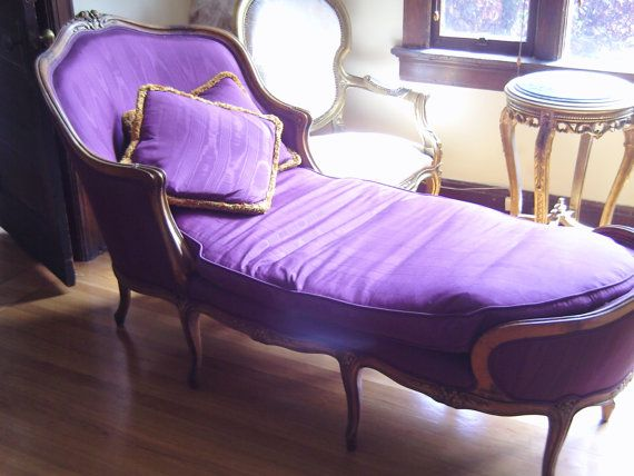 Purple French Fainting Couch...I think I need a fainting couch;)