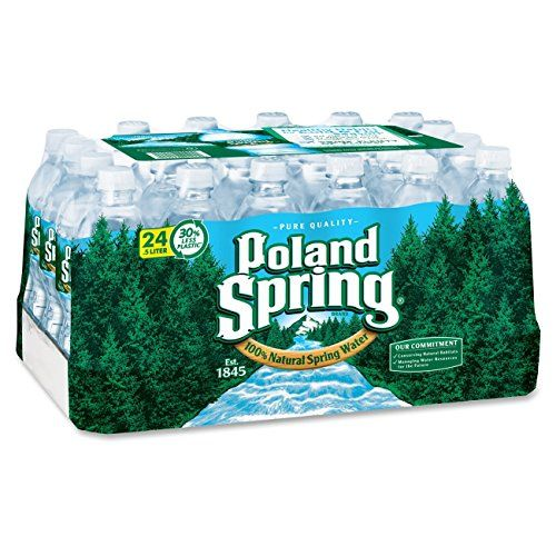 Poland Spring 100% Natural Spring Water, 16.9-ounce plastic bottles (Pack of 24) *** More info could be found at the image url.