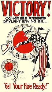 Congress Passes Daylight Savings Bill - Get Your Hoe Ready!