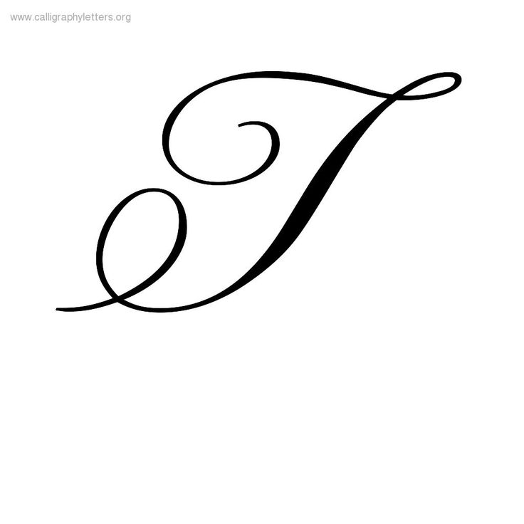 Printables capital letter t in cursive gozoneguide T in calligraphy
