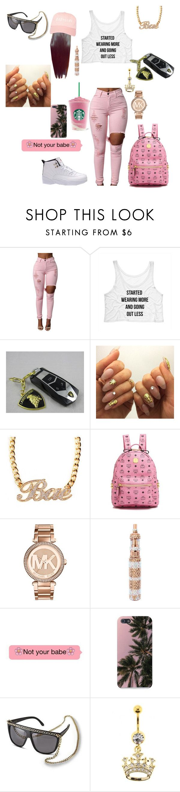 """Going to chill with uncle drake-ray'Vaniyah"" by mindless-loyalty2 ❤ liked on Polyvore featuring Retrò, MCM, MICHAEL Michael Kors and Nicki Minaj"