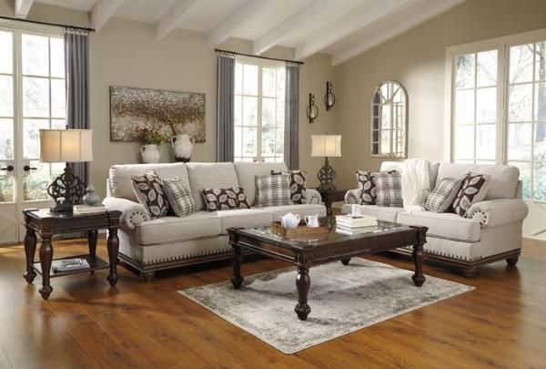 True Classic Character Comes To Life In The Harleson Sofa Loveseat Set Back Pleated Ro Couch And Loveseat Set Living Room Sets Traditional Style Living Room