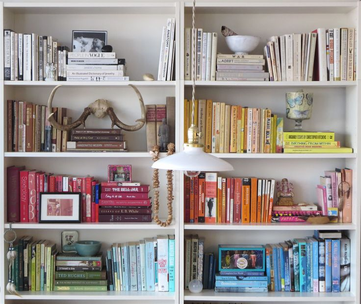 Color Coded Bookshelves By Laura Cattano