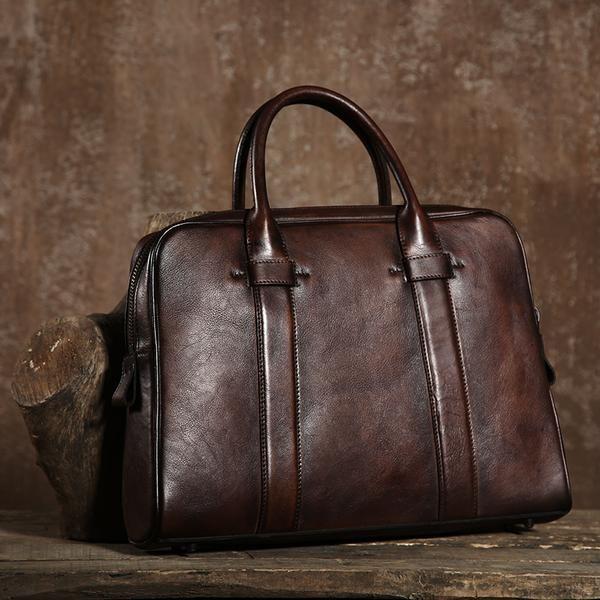 Leather Business Bag, Leather Laptop Briefcase GLT020 Design: Genuine LeatherBagIn Stock: 4-5 days For MakingAdd Custom Monogram/Logo: AcceptColor: Brown/Blu