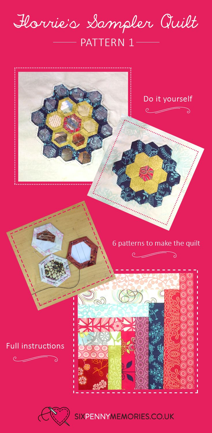 The first pattern to make Florrie's sampler quilt