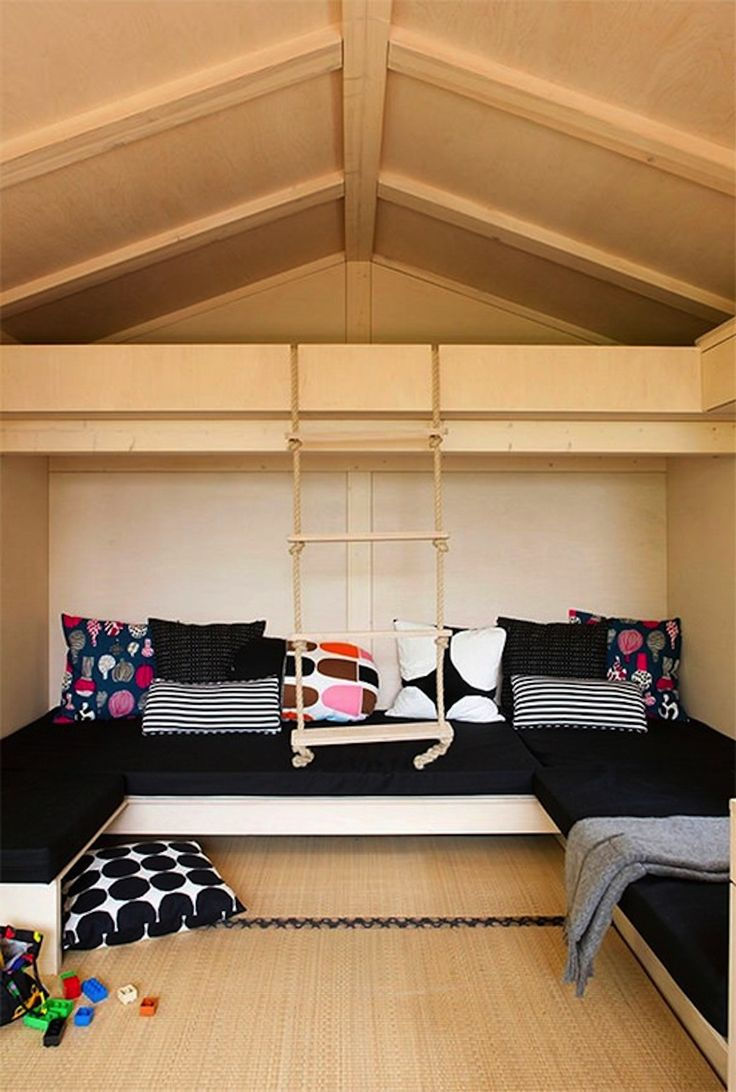 Teen attic bedroom with swing attic rooms pinterest for Swing for kids room