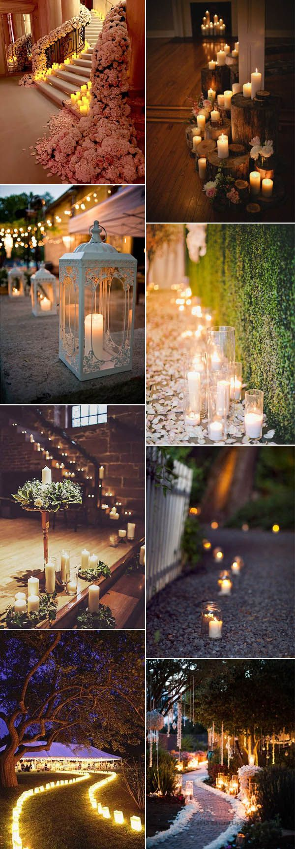 impossibly gorgeous way to add candle lights to your wedding decor