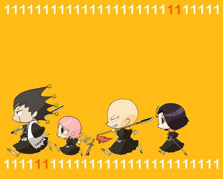 Bleach: Captain Kenpachi, Yachiru, Ikaku and Yumichika