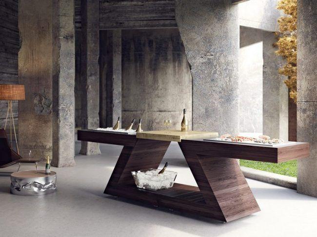 Der Designer Multifunktionstisch Ist Eine Freistehende Komposition, Die  Sich Durch Ein Innovatives Design Und Einen Vielseitigen Einsatz  Auszeichnet.
