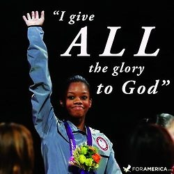 Love how our girls watched Gabby Douglas live out 1 Corinthians 10:31