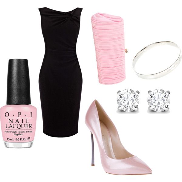 """Pink date night"" by mollylsanders on PolyvoreDate Nights, Dates Night"