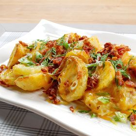 Bacon and Cheese Potato Packets, a recipe from ATCO Blue Flame Kitchen's Romancing the Flame 2004 cookbook.