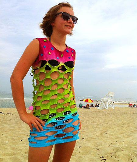 t shirt cutting ideas shirt beach cover up - T Shirt Cutting Designs Ideas